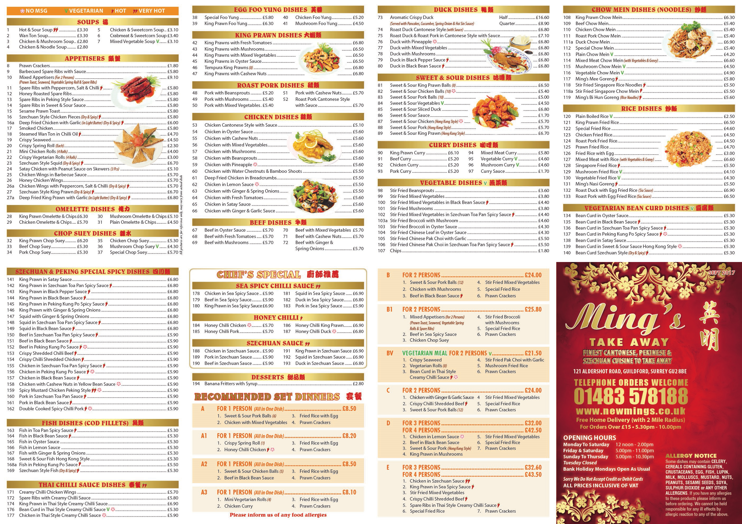 Mings Chinese Takeaway, Guildford
